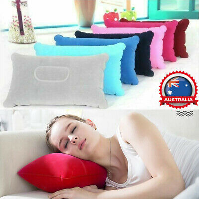 Inflatable Air Pillow Head Neck Support Camping Sleeping Cushion Office Travel