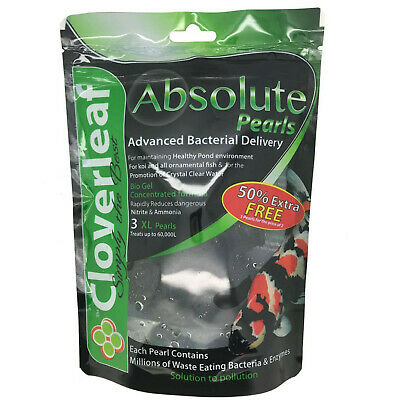 Cloverleaf Absolute Pearls XL Balls Filter Bateria Boost Ammonia Nitrite Removal