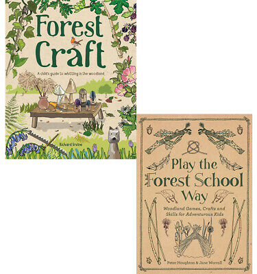Forest Craft A Child's Guide & Play the Forest School 2 books collection set