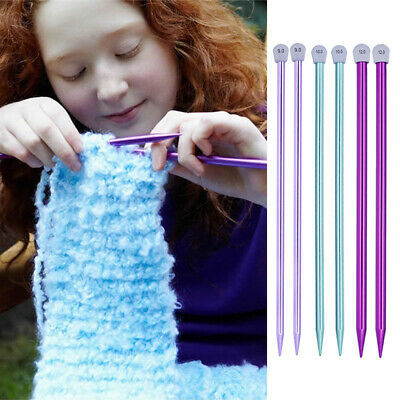 Long Single Pointed Scarf Weaving Tool Straight Pins Knitting Needles Aluminum