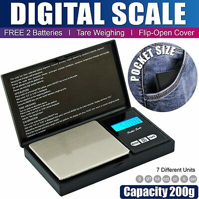 0.01g LCD Digital Pocket Scale Jewelry Gold Gram Balance Weighing Scale x200g