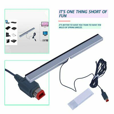 New Wired Infrared Ray Sensor Bar for Nintendo Wii Remote Controller AL