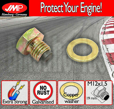 JMP Magnetic Oil Drain Plug - M12x1.5 + washer for Aprilia Scooters