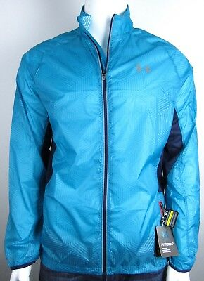 Under Armour Running Teal Blue Reflective Jacket Large L $109