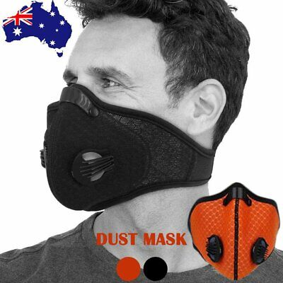 AU Outdoor Cycling Anti Dust Haze Mesh Mask Breathable Half Face Filter Neoprene
