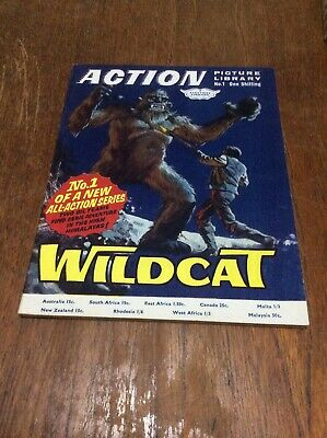 Action Picture Library No. 1 Wildcat Pocket Sized Comic Fleetway