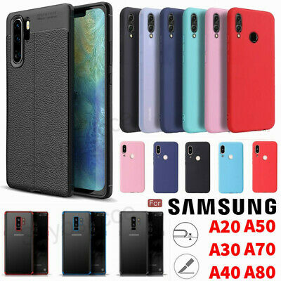 For Samsung Galaxy A80 A70 A50 A40 A30 A20 A10 Silicone/Leather Phone Case Cover