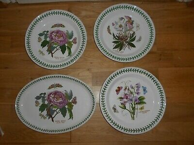 "Portmeirion The Botanic Garden 10.5"" 26.5Cm 3 Dinner Plates & 1 Oval Platter"