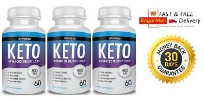 Keto Pure Diet Advanced Weight Loss - (3X60 Capsules)  Next Day Delivery