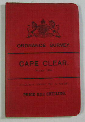 1900 Old OS Ordnance Survey Ireland One-Inch Second Edition Map 204 Cape Clear