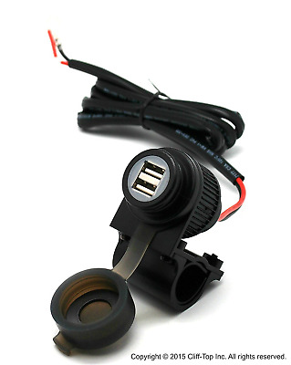 Cliff-Top® 4 Amp Motorcycle Magnetic Switch USB Power Charger - Prevent Battery