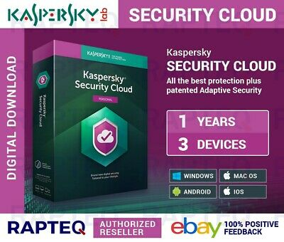 Kaspersky Security Cloud-Personal 3 Devices 1 Year MAC/PC/Android UK VAT EMAILED