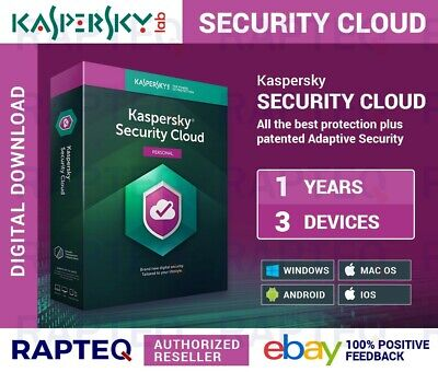 Kaspersky Security Cloud-Personal 3 Devices 1 Year Android/PC/Mac UK VAT EMAILED