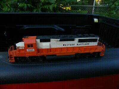 Hard To Find Ahm Ho Western Maryland(Wm 7549) Sd40  Flywheel Loco W/Kadees