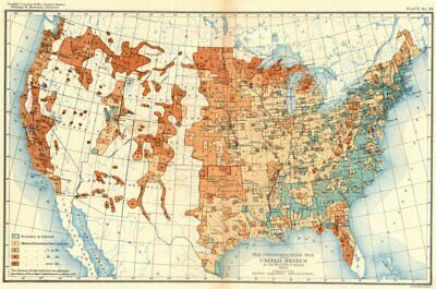 USA. Predominating sex of US at 12th Census  1900 old antique map plan chart