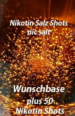 50 x NikotinSALZ Shot 20mg + 1000ml Base Liquid 70/30 50/50 100/0 90/10 nic salt