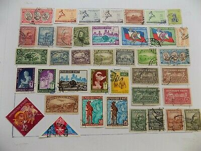 Haiti Coll'n of stamps off paper -7-4