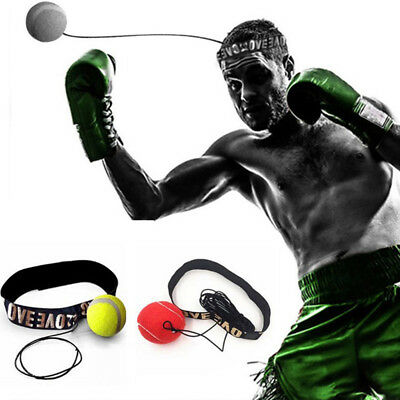 Boxing Punch Exercise Fight Ball With Head Band Reflex Speed Reflection Train DP