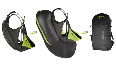 SupAir Radical3 lightweight harness/airbag/backpack Combo Paragliding harness.
