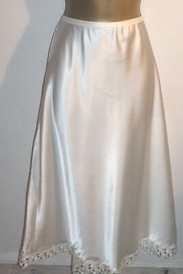 Ladies Gorgeous Glossy Vtg St Michael Cream Half Slip Size 16/18