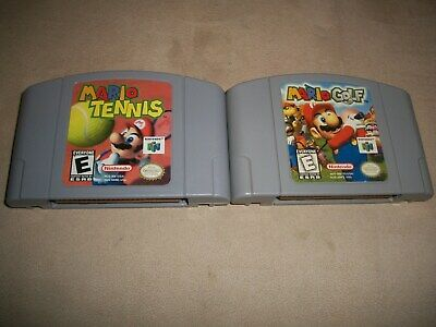 OEM Authentic Nintendo 64 N64 Mario Tennis + Mario Golf Game lot Tested works.