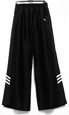 Adidas Tear Away Snap Up Athletic Sport Pants Emblem Stripes Perfect Condition L