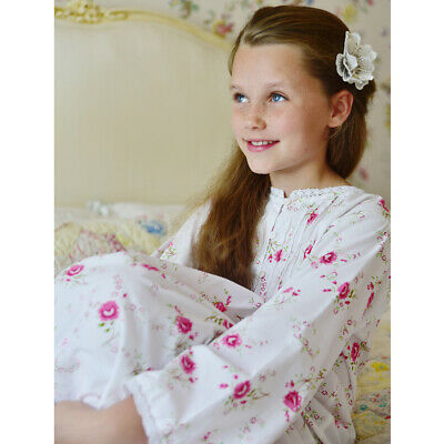 Girls Floral Cotton Nightie Nightdress BNWT Powell Craft Jenny  Age 1-12