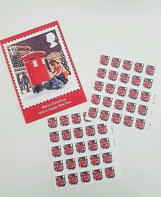 50 First Class Christmas Stamps with Royal Mail card 2018 Collectors
