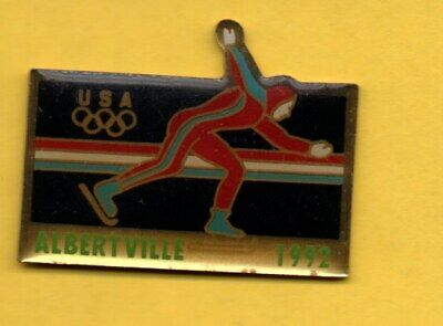 Pin's lapel pins HAT PIN JO ALBERTVILLE 92 Olympic games USA Patinage de vitesse