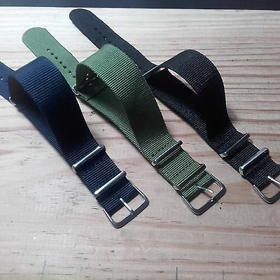 18mm - 20mm - 22mm Nato Strap Correa Reloj Nylon Pulsera Watch band