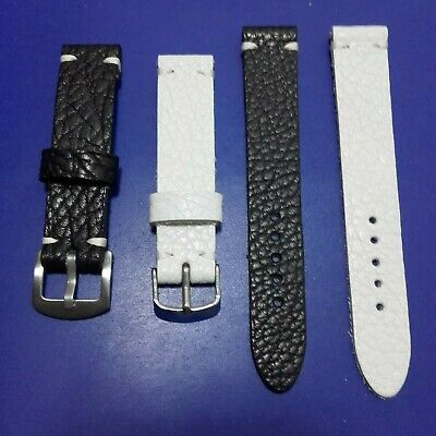 18mm - 20mm - 22mm Correa Reloj cuero Pulsera Leather Watch Band Strap