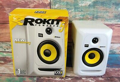 KRK Systems Rokit 5 G3 Generation 3 Powered Studio Monitor White RP5G3W-NA w Box