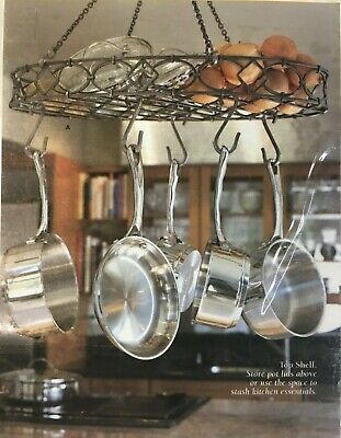 "Princess House Meridian #5333 Pot Rack 25""Lx14""Wx20.5H"
