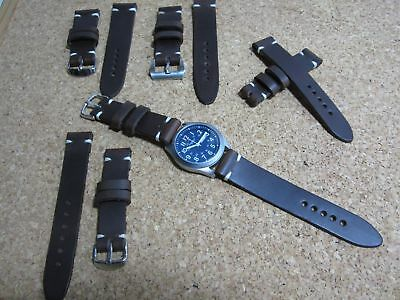 Correa reloj cuero Leather Watch Band Strap 18 - 20 - 22 - 24mm
