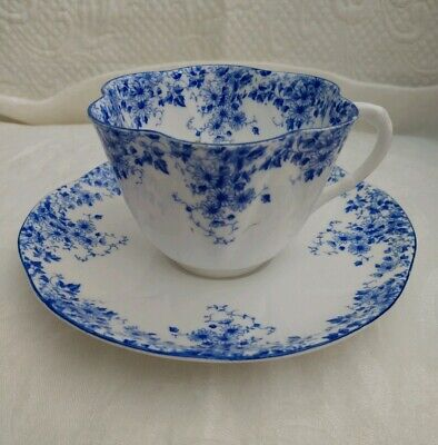 Vintage Shelley Dainty Blue Style Bone China Tea Cup and Saucer Made in England