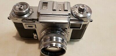 Zeiss Ikon Contax III camera with 1:1.5 Sonnar Lens  & Agfa flash unit