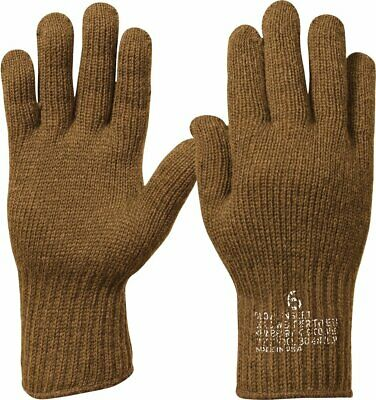 Coyote Brown Military Flexor D-3A Wool Glove Liners USA Made