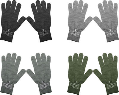 D-3A Flexor Military Wool Nylon Blend Glove Liners - Made in the USA