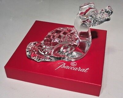 FLAWLESS Exceptional BACCARAT Crystal Zodiac DRAGON Figurine Paperweight & Box