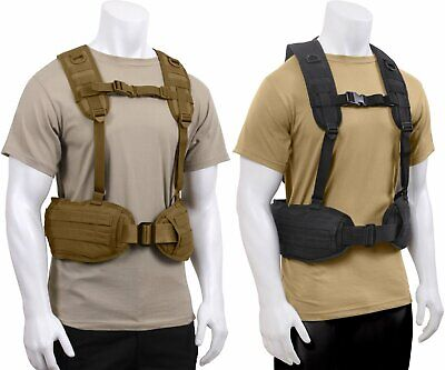 Tactical Load Bearing Military MOLLE Police Battle Belt Harness Vest