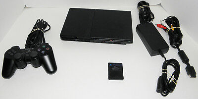 Sony PlayStation 2 Slim Launch Edition Charcoal Black Console (SCPH-75001)