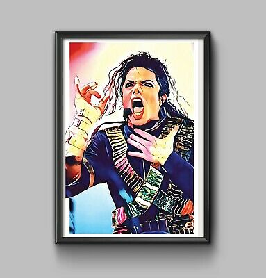Michael Jackson Poster 24 x 36 the king of pop art collectable unique Thriller