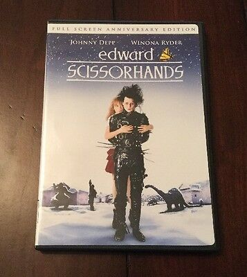 Edward Scissorhands DVD Full Screen Anniversary Edition