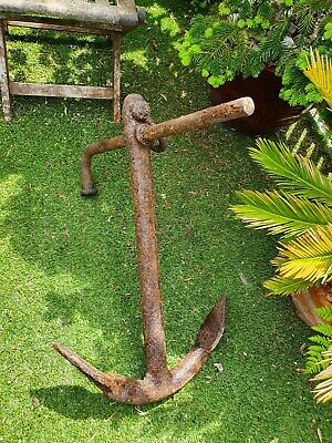 Boat anchor vintage iron boat ship anchor old fisherman's  anchor  Free P/P