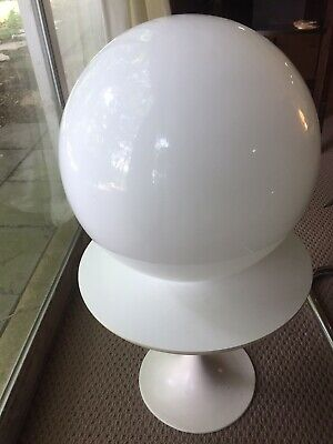 Vintage Very Large White Globe Lamp Shade Glass 1970s Ball Mid Century