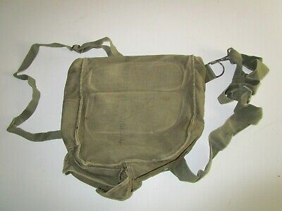 VINTAGE US ARMY M9A1 Chemical Biological Canvas Bag Gas Mask