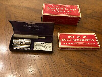Vintage Valet Auto Strop Razor Kit, Made in the USA, Original Case and Box
