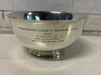 Tiffany Sterling Silver Monmouth County Kennel Club Best Sporting Dog Trophy