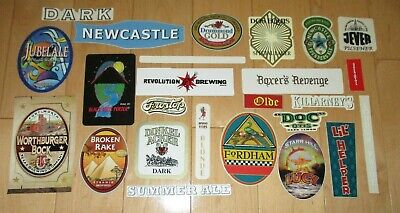 25 BEER STICKER PACK LOT decal craft beer brewing brewery tap handle A1