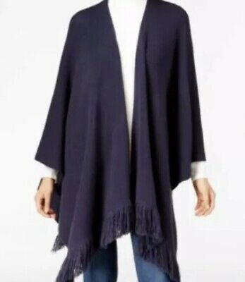 Style & Co. NWT Women's Poncho Drape Cardigan Industrial Blue PS/PM        MM34